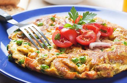 Salmon and Ricotta Frittata