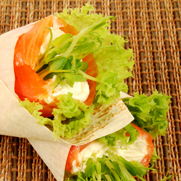 RECIPE – L – Smoked Salmon and Capers Wrap